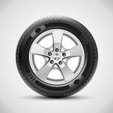 Car tire, vector. Vector realistic detailed car tire Stock Image
