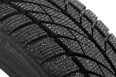 Car tire with water drops Stock Image