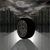 Car tire wheel with reflection Royalty Free Stock Photography