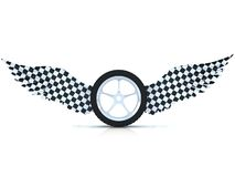 Car tire wheel with wings. Stock Images