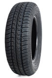 Car tire on white Royalty Free Stock Images