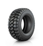 Car tire. On white background Royalty Free Stock Images