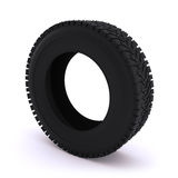 Car tire on a white background. Stock Image