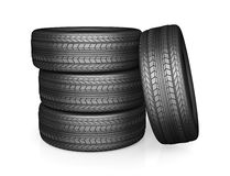 Car tire on white background Royalty Free Stock Image