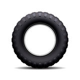Car tire  on white background. Royalty Free Stock Photos