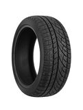 Car tire on white stock image