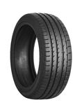 Car tire on white stock photo