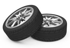 The car tires Royalty Free Stock Image