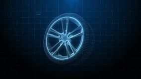 Car tires   Alloy wheels stock illustration