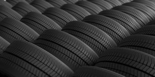 Car tires as background. 3d illustration. Car tires as full background. 3d illustration Royalty Free Stock Images