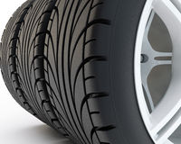 Car tires Stock Image