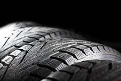 Car tires close-up Royalty Free Stock Image