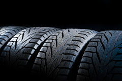Car tires close-up Royalty Free Stock Photo