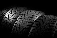 Car tires close-up Royalty Free Stock Images