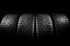 Car tires close-up Royalty Free Stock Photos