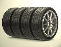 The car tires Royalty Free Stock Photos