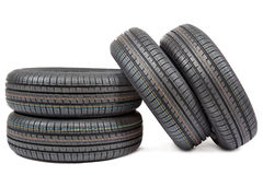 Car tires isolated on white background Stock Image