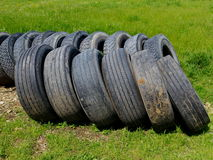 Car tires pile stock photography