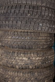 Car tires. Preparing the car for the winter. Summer tires are not suitable for use in winter. Summer tires will be stored until spring Royalty Free Stock Photography