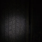 Car tires in a row on a shelf tire. Stock Photography