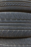 Car tires stack up Stock Photography