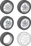 Car Tires - Vector Illustration Stock Photos