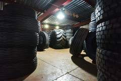 Car tires on warehouse. Black car tires on warehouse Stock Photography