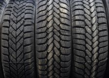 Car tires in a warehouse Stock Photography