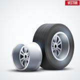 Car tires and wheel at warehouse Royalty Free Stock Photo