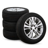 car tires on a white background Royalty Free Stock Photo