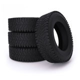 Car tires on a white background Stock Image