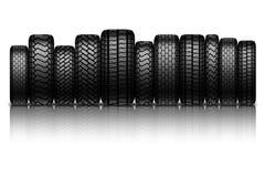 Car tires on white background Stock Image