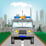 Car to police bodies Stock Photography