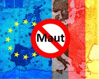 Car toll: Conflict Germany - EU Commission Stock Photography