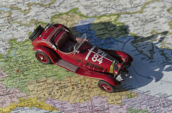 Car that took part in the Mille Miglia. Historic car that took part in the Mille Miglia Stock Photo