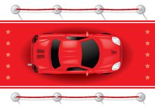 Car Top View on Red Carpet Royalty Free Stock Photo