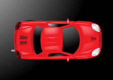 Car Top View - Vector Illustration Royalty Free Stock Photography