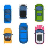 Car top view vector set. Stock Images