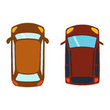Car top view vector Stock Images