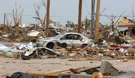 Car After Tornado Stock Photo