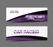 Car Tournament Advertising Header Royalty Free Stock Photos