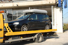 Car Towing. After a breakdown - bringing directly to the garage royalty free stock photography