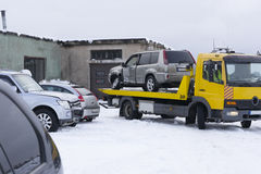 Car towing to service. Insurance concept Stock Images
