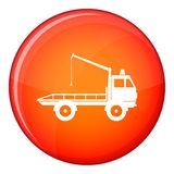 Car towing truck icon, flat style Royalty Free Stock Images