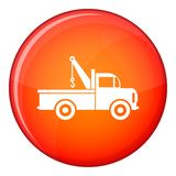 Car towing truck icon, flat style Stock Photography