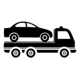 Car towing truck - illustration Royalty Free Stock Images
