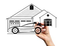Car and townhouse Stock Photography