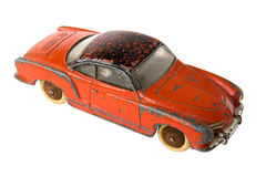 Car toy. Old red rusty car toy Royalty Free Stock Image