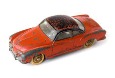 Car toy. Old red rusty car toy Royalty Free Stock Images