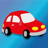 Car toy. Abstract car toy on special blue background Stock Images